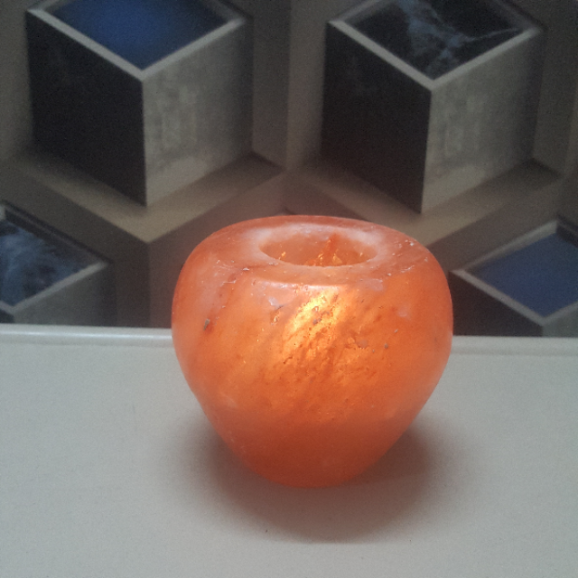 himalayan apple candle holder