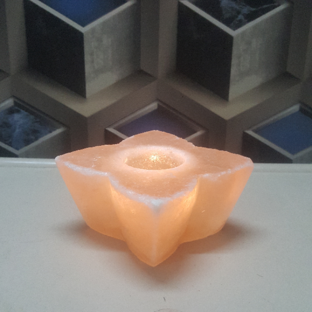 himalayan flower candle holder