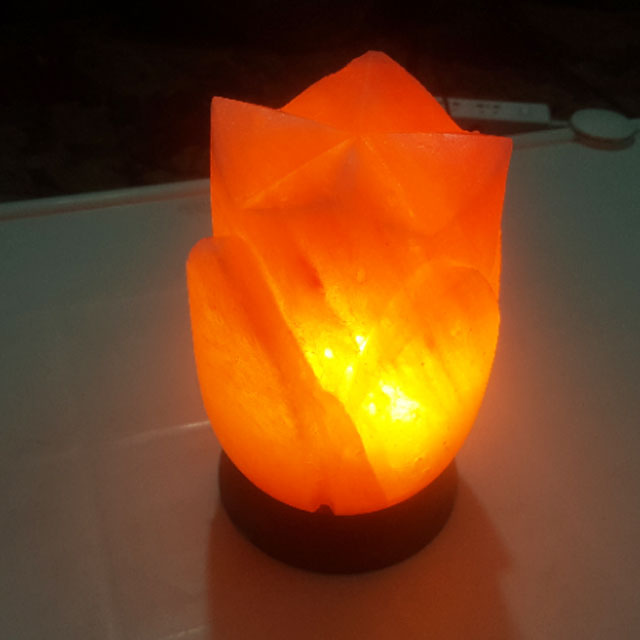 himalayan open lotus lamp with light