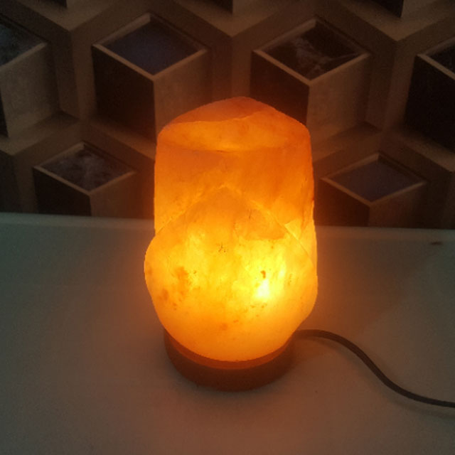 himalayan rose lamp with light