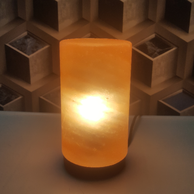 himalayan cylinder lamp with light