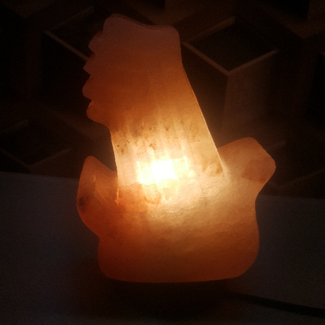 himalayan guitar lamp with light