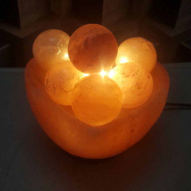 himalayan heart bowl lamp with ball with light