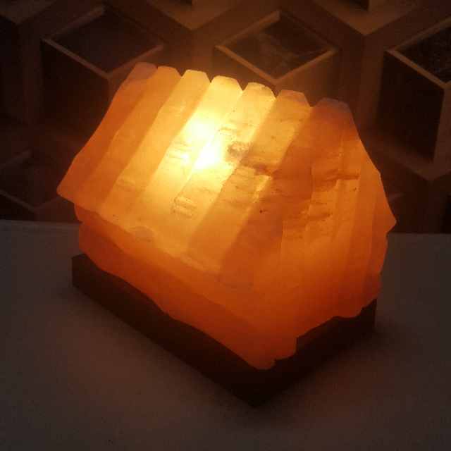 himalayan hut lamp with light