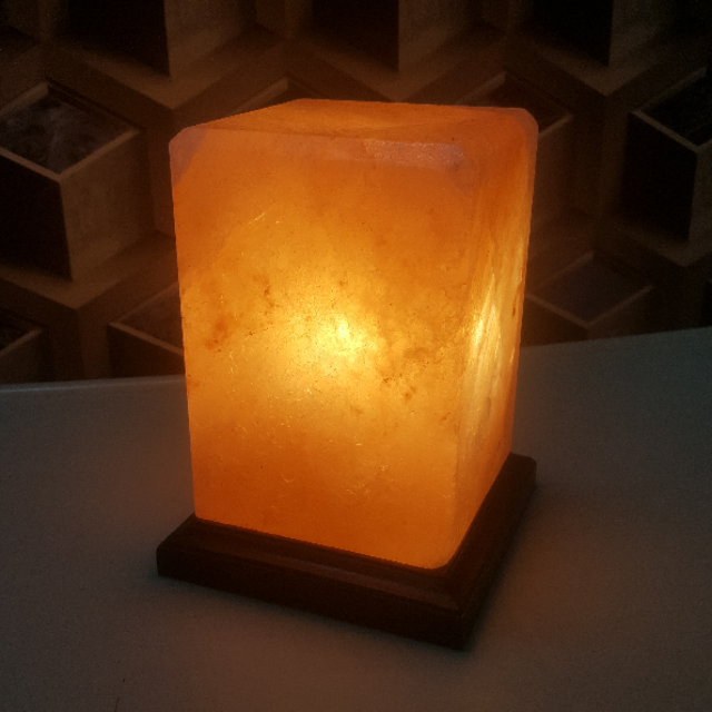 himalayan rectangle lamp with light