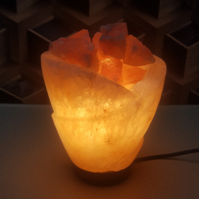 himalayan rumal bowl lamp with light