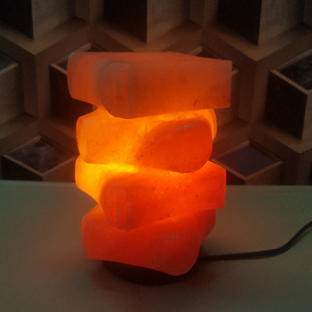 himalayan step lamp with light