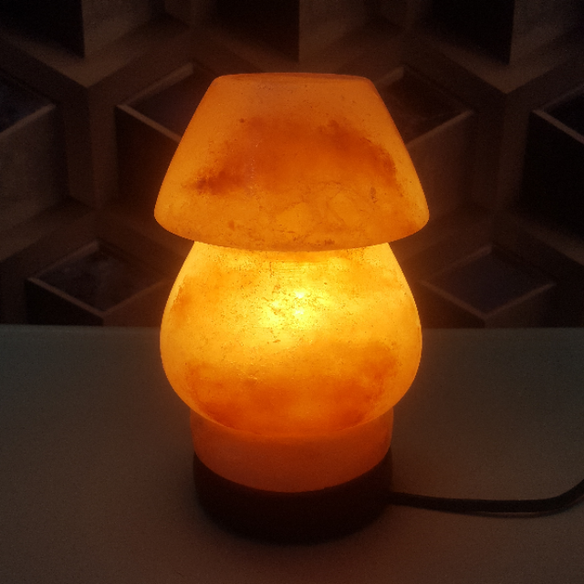himalayan table lamp with light