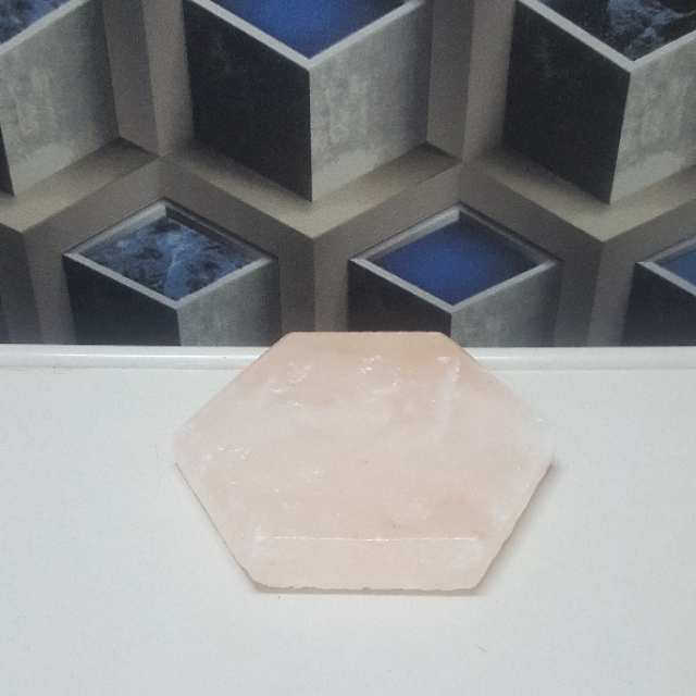 himalayan hexagon tile one side beveled(pink)