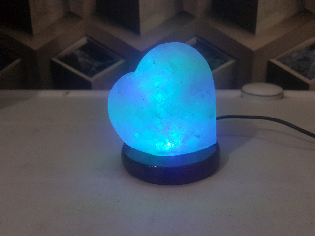 himalayan usb heart lamp (white) with light