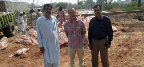 customer salt factory visit