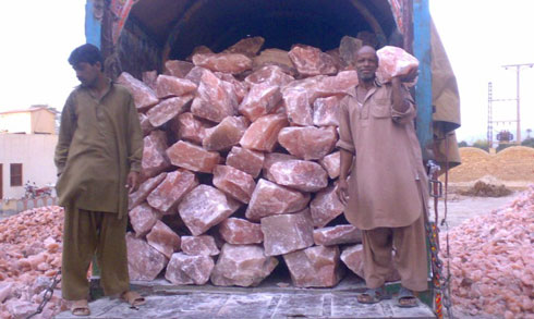 loading unloading himalayan natural salt lamps