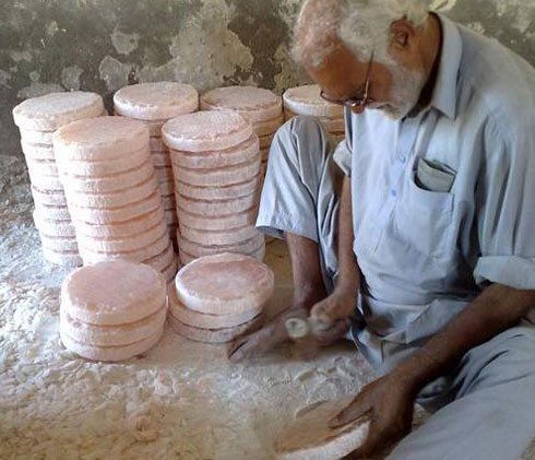 himalayan salt round tiles processing