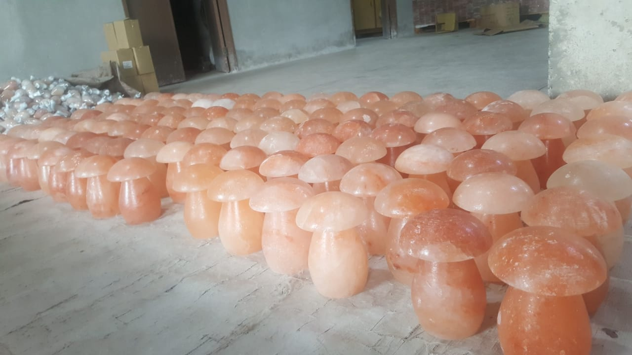 himalayan crafted mushroom lamp factory view