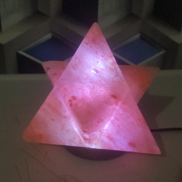 himalayan usb multi star lamp (pink)